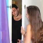 teen hottie seducing a lucky man