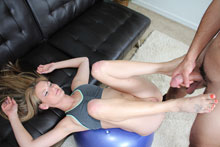 Horny Teen Hope Harper Get Banged Hard By Her Trainor After Exercise Workout - Picture 4