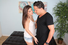 Naughty Teen Natalie Monroe Fucked Her Neighbor Hard In The Sofa Bed - Picture 2